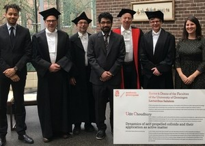 Udit Choudhury has his PhD defence in Groningen