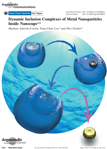 Dynamic Inclusion Complexes of Metal Nanoparticles Inside Nanocups