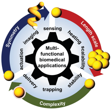 Recent advances in gold nanoparticles forbiomedical applications: from hybrid structuresto multi-functionality